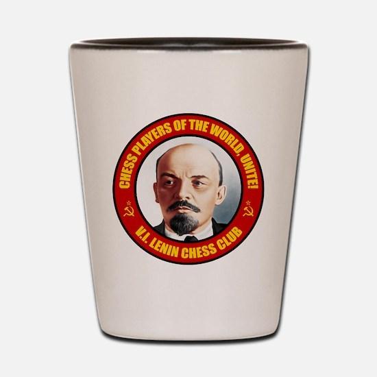 V.I. Lenin Chess Club Shot Glass
