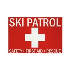 Unique Ski patrol Rectangle Magnet
