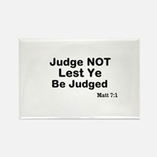 The Bible & Not Judging Rectangle Magnet