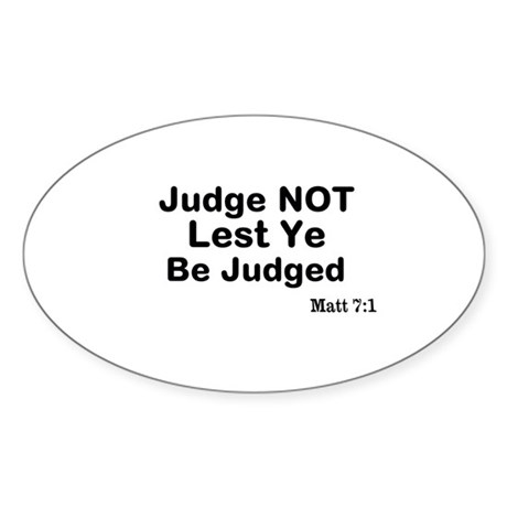 The Bible & Not Judging Sticker (Oval 50 pk)