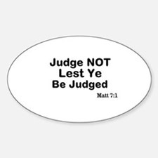The Bible & Not Judging Decal