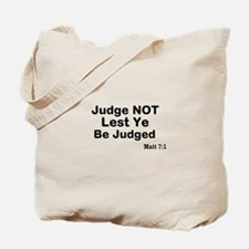 The Bible & Not Judging Tote Bag