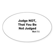 Jesus & Not Judging Decal