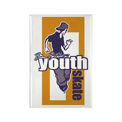 Youth Skate Rectangle Magnet