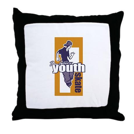 Youth Skate Throw Pillow