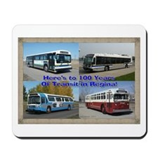 100 Years of Transit in Regina Mousepad