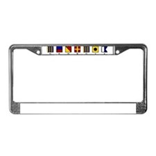 Nautical Georgia License Plate Frame