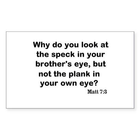 Brothers eye Sticker (Rectangle)