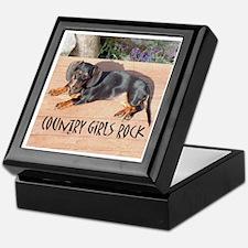 Country Girl Rock Dachshund Dogs Keepsake Box