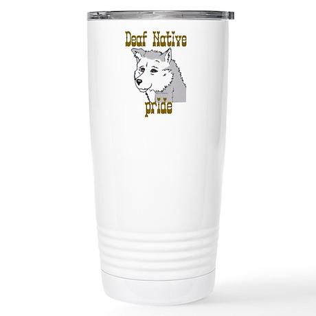 Deaf Native Pride 2 Stainless Steel Travel Mug