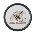 Nurse Preceptor Large Wall Clock
