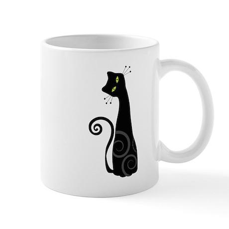 Whimsical Cat Mug