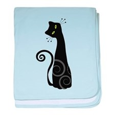 Whimsical Cat baby blanket