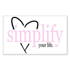 Simplify your life Rectangle Decal