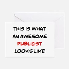 awesome publicist Greeting Card