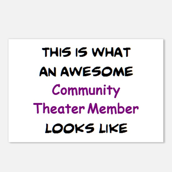 awesome community theater Postcards (Package of 8)