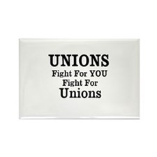Unions Fight For Us Rectangle Magnet