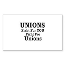 Unions Fight For Us Decal