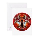 Goddess of the Red Moon Greeting Cards (Pk of 20)