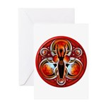 Goddess of the Red Moon Greeting Card