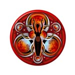 """Goddess of the Red Moon 3.5"""" Button"""