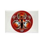 Goddess of the Red Moon Rectangle Magnet
