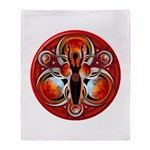 Goddess of the Red Moon Throw Blanket