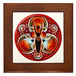 Goddess of the Red Moon Framed Tile