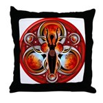 Goddess of the Red Moon Throw Pillow