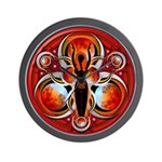 Goddess of the Red Moon Wall Clock