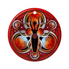 Goddess of the Red Moon Ornament (Round)