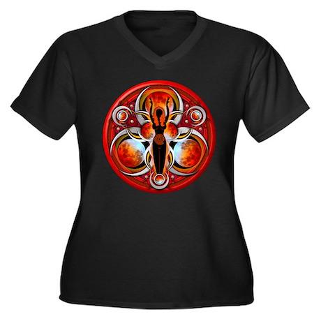 Goddess of the Red Moon Women's Plus Size V-Neck D