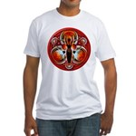 Goddess of the Red Moon Fitted T-Shirt