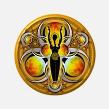 """Goddess of the Yellow Moon 3.5"""" Button"""