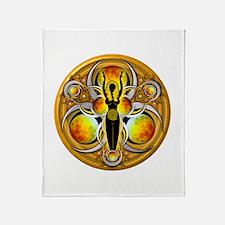 Goddess of the Yellow Moon Throw Blanket