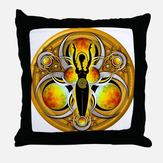 Goddess of the Yellow Moon Throw Pillow