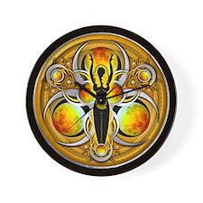 Goddess of the Yellow Moon Wall Clock