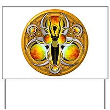 Goddess of the Yellow Moon Yard Sign