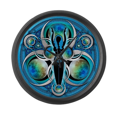 Goddess of the Blue Moon Large Wall Clock