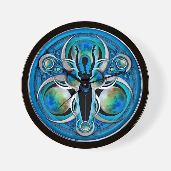 Goddess of the Blue Moon Wall Clock