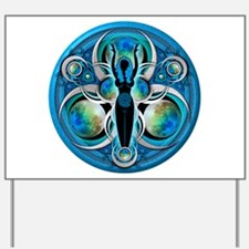 Goddess of the Blue Moon Yard Sign