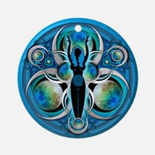 Goddess of the Blue Moon Ornament (Round)