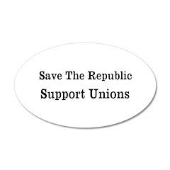 Save Unions 38.5 x 24.5 Oval Wall Peel
