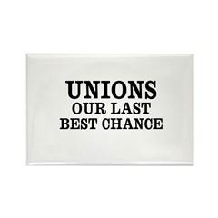 Save Unions Rectangle Magnet