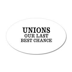 Save Unions 22x14 Oval Wall Peel
