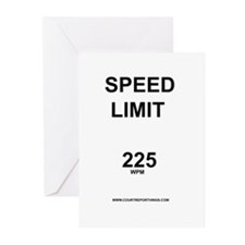 Speed Limit Greeting Cards (Pk of 10)