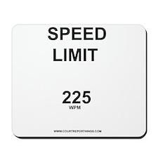 Speed Limit Mousepad