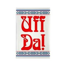 Uff Da Rectangle Magnet