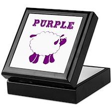 Purple Sheep Keepsake Box