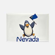 Nevada Penguin Rectangle Magnet